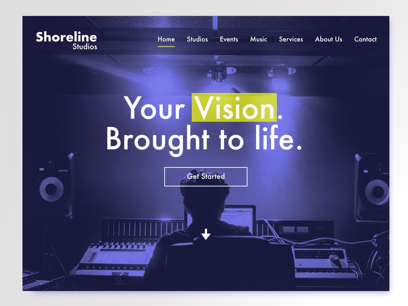 Shoreline Studios Landing Page ui design landing page website dailyui003 daily ui dailyui