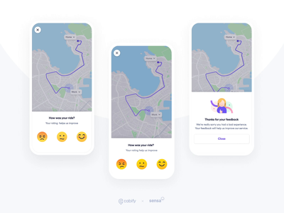 Rating Experience emotions feedback ratings mobility riders animation design interaction app design design app rating emoji app illustration ui design cabifydesign cabify