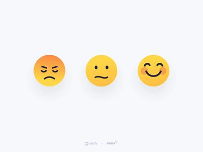 Illustrations for Rating experience animation design feedback emotions great bad okay emoji set emoji emojis rating ilustration cabifydesign cabify