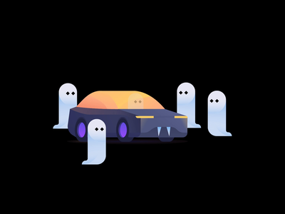 Happy Halloween! halloween design car illustration happy halloween ghost car halloween cabify cabifydesign illustration