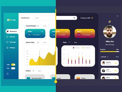 IT net  - Platform for IT company design platform dashboard design dashboad illustration adobe photoshop