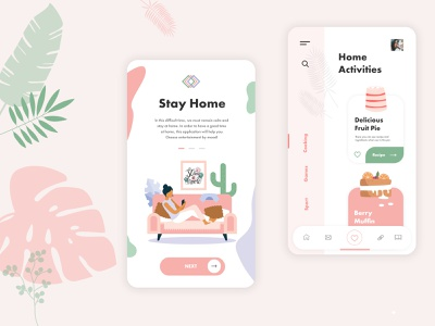 UI&UX | Stay Home, Stay Safe mobile ui  ux mobile ui ux mobile app design mobile app website ui webdesig adobe photoshop