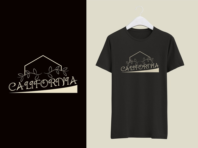California T shirt Design