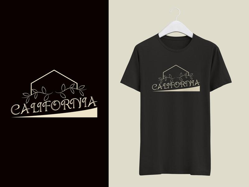 California T shirt Design