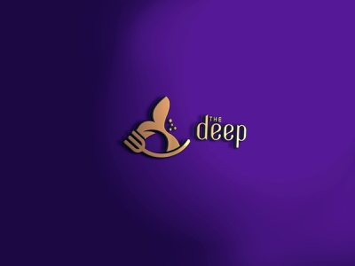 The Deep Logo logotype logodesign logos brand designer logo designer logo food seafood seafood logo