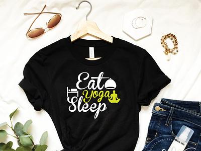 Eat Yoga Sleep T-shirt Design shirt designer fashion designer graphic design t-shirt designer yoga t-shirt yoga sleep eat tshirt