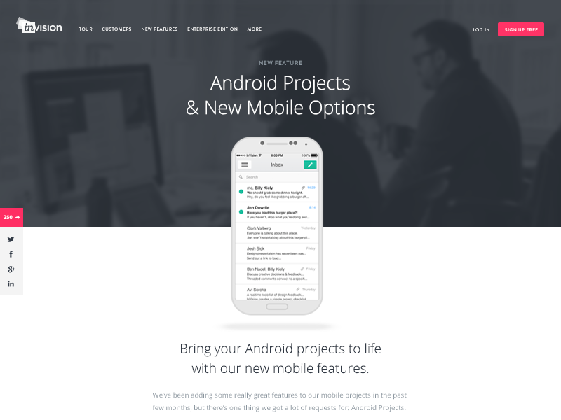 Android Projects ui android website flat design