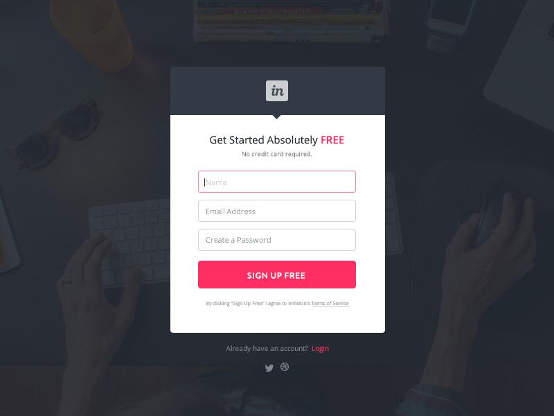 Sign Up Form web design invision ui illustration form