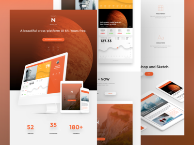 UI kit for Photoshop and Sketch