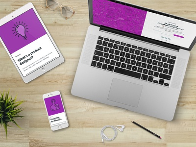 Free product design e-course  email responsive mobile web e-course ui invision