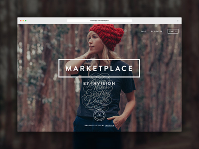 Meet Marketplace: Goods made for designers, by designers marketplace posters t-shirts design ui invision