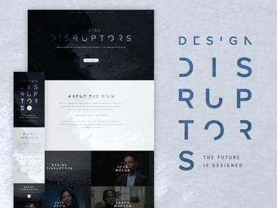 DESIGN DISRUPTORS coming to a city near you! responsive invision film website ui design