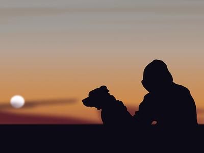 Pratik and his dog adorable sunset lover dog pratik shrestha