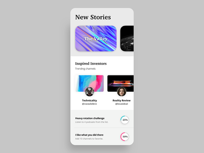 Podcast Player podcast player ux uxdesign uidesign mobile ui mobile minimal app design app animation