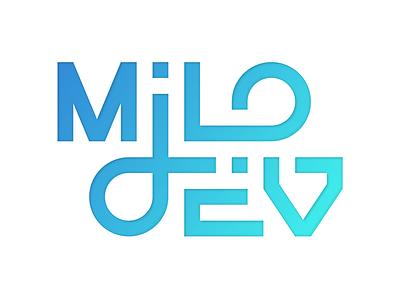 Logo design flat typography branding design logo developer
