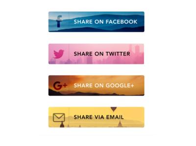 Daily UI Challenge: Day 10 - Social Share dailyuichallenge dailyui