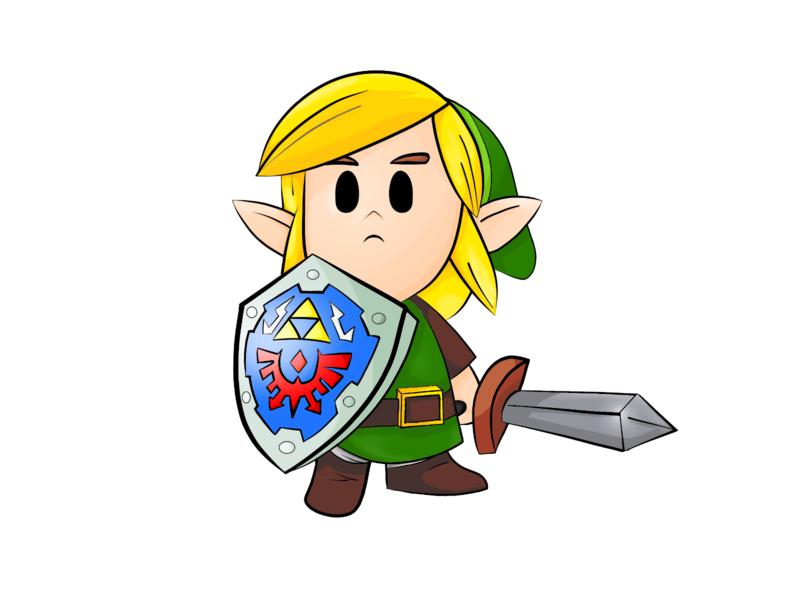 Link, Legend of Zelda wacom intuos krita adventure gamers gamer games videogame colorful colors graphic design design illustration legend of zelda zelda