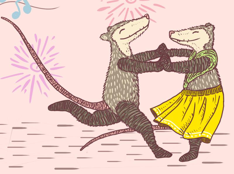 Dancing possums