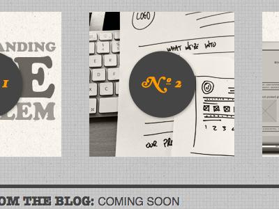 Relaunch coming soon... texture grey orange hoefler text