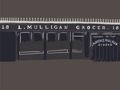 L. Mulligan Grocer illustration