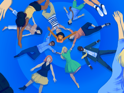 All the People events people illustration