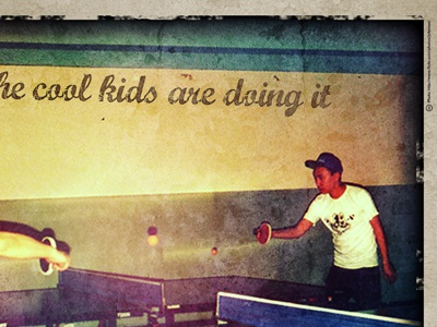 ...the cool kids are doing it grunge texture ping-pong