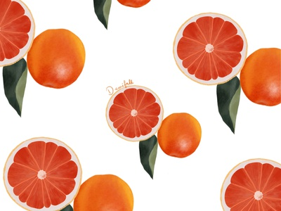 Orange pattern pattern art pattern procreate illustration