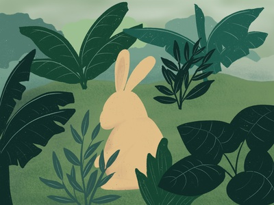 Rabbit illustration childrens illustration cute animal illustration