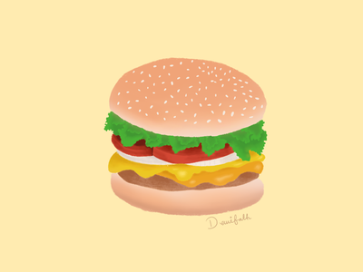 Yummy burger procreate food illustration illustration