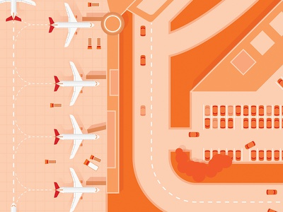 Airport Project - Cover #2 aviation orange cars jets planes runway airport