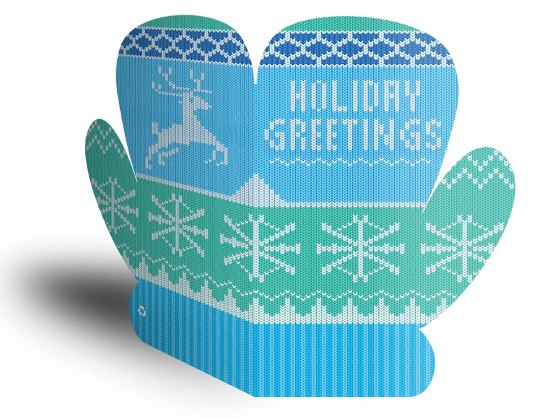2017 Company Holiday Card snow deer greeting knitted company card holiday