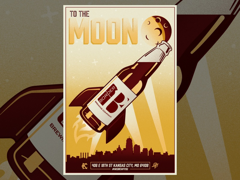To The Moon brewery brewing brew border rocket bottle beer moon the to