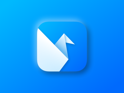 Origami Studio Icon For macOS Big Sur art branding logo illustration ui ux product design prototype application macos big sur origami studio facebook design icon