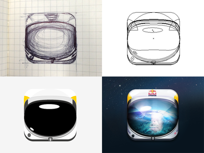 Red Bull Stratos iOS Icon Process