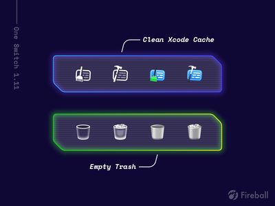 New Toggles for One Switch recycle delete trash clean xcode toggles one switch