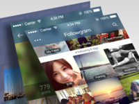 Followgram app iOS 7 redesign