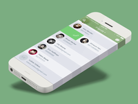 Messaging App - Friends w/ iPhone 6 listener app friends contacts ios7 interface