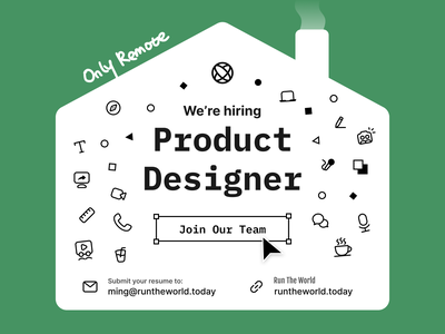 [Closed] We're hiring a product designer! product designer job hiring poster hiring