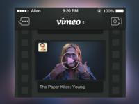 Dark Vimeo Timeline