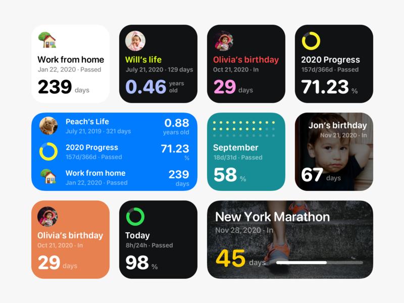 Moment for iOS 14 widgets exploration. homescreen widgets iphone widget ios widget countdown widget ios 14