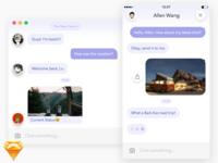 [Freebie] Messenger UI .sketch