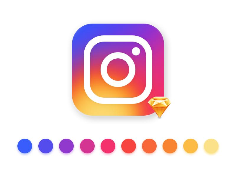 Instagram Vector Logo.sketch vector freebie sketch rebrand icon app camera logo instagram