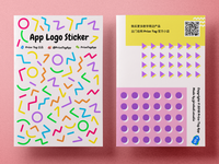 App Logo Sticker Packaging Design