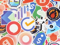 App logo sticker is for sale.