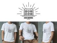 Phone Rise T-shirt / Good Morning Vibes