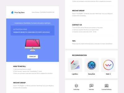 Purchased Email Template