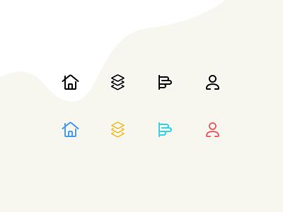 Tabbar icons for mini program profile vote poll apps home icons tabbar wechat mini program