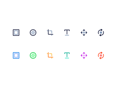 Icons for photo editing.