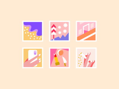 Tiny illustrations for a photo edit app