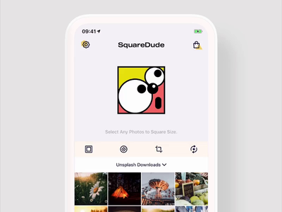 Select/Unselect Photos Animation in SquareDude photo app selector pick image image picker unselect animation select animation